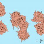 描けると嬉しい「バラ」のイラストを簡単に考える描き方