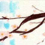 控え目に咲く花「梅」の花 簡単な描き方